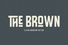 Free The Brown 1001 Fonts - Dafonts