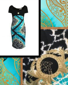 Pre-owned Versace Collection Midi Printed Dress Fashion Deals, Women's Fashion, Versace Dress, Ladies Dress Design, Designer Dresses, Printed, Clothes, Collection, Tall Clothing