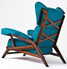 BBPR; Wood and Brass Lounge Chair, 1942.