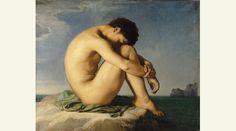Hippolyte Flandrin - Jeune homme nu assis au bord de la mer
