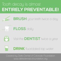 Tooth decay is almost entirely preventable. Dentistry For Kids, Cavities, Decay, Infographics, Tooth, Education, Learning, Health, Info Graphics