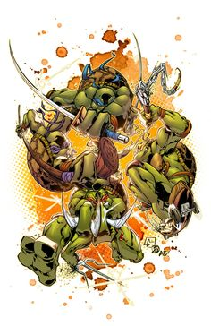 TMNT in action! by *AlonsoEspinoza on deviantART