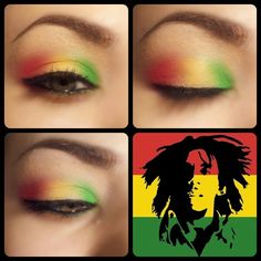 I want to do this makeup for 4/20! Rasta Eyewear #Makeup