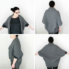 Add Sleeves Simple Crochet Cardigan // Perfect project for beginners (free pattern)Can you single crochet? That's all you need to know to make this Simple Crochet Cardigan from a giant rectangle. Perfect for beginners. Black Crochet Dress, Crochet Jacket, Crochet Poncho, Knit Or Crochet, Simple Crochet, Crochet Shrugs, Knit Shrug, Beginner Crochet Projects, Crochet For Beginners