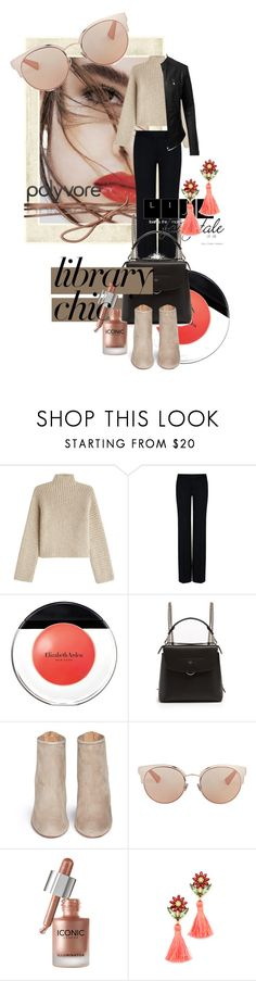 """Study Session: Library Chic"" by kari-c ❤ liked on Polyvore featuring Lily Jean, Rosetta Getty, STELLA McCARTNEY, LE3NO, Elizabeth Arden, Fendi, Aquazzura, Christian Dior, Elizabeth Cole and librarychic"