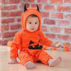 HE Hello Enjoy Baby Romper Baby Girl Dress 2017 Halloween Baby Boy Jumpsuit Cute Pumpkin Clothes Little Monster Print Halloween Baby Girl Halloween, Halloween Bebes, Newborn Halloween Costumes, Baby Costumes, Devil Halloween, Halloween Onesie, Halloween Jack, Family Halloween, Halloween Cosplay