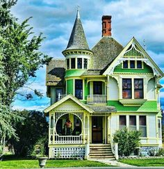 Green and yellow Victorian home