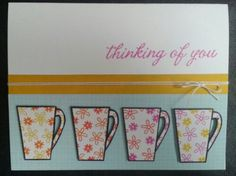 coffee cups patterned with small stamps The Alley Way Stamps - Breakfast Club