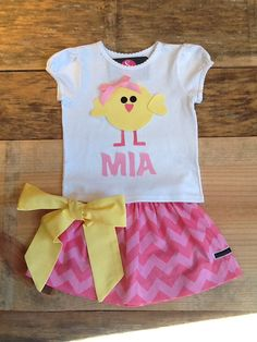 Girls Easter outfit Twirly skirt & shirt set by EverythingSorella, $48.50