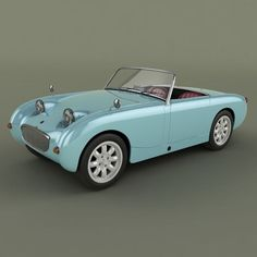 Austin-Healey Sprite model, available formats MAX, OBJ, 1958 ready for animation and other projects Vintage Sports Cars, British Sports Cars, Classic Sports Cars, Vintage Cars, Classic Cars, Aston Martin, Jaguar, Bristol, Austin Healey Sprite