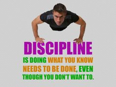 Discipline is not so hard once you do something for enough days in a row! It gets easier and easier if you will just give it a chance...