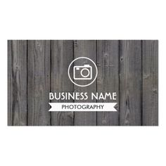 Photographer Rustic Wood Background Photography Business Card