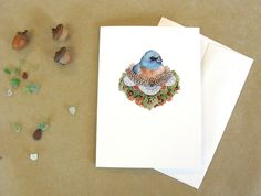 Frill and Feather- Blank Greeting Card
