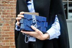 Chanel clutch Fashion Week