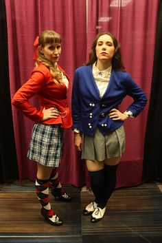 Heather Chandler and Veronica Sawyer from the Heathers musical at BroadwayCon 2016