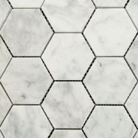 Natural Stone Product ▇ Stone Tile Classic marble mosaic stone tiles in hexagon shape. Gorgeous on walls and floors or just as an accent.