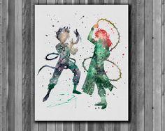 Hiei and Kurama Yu Yu Hakusho poster  Art by digitalaquamarine