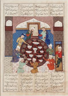 A Banquet Scene with Hormuz, Page from a Manuscript of the Shahnama (Book of Kings) of Firdawsi | LACMA Collections