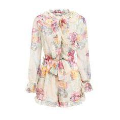 6230c48841 Ruffled Blouse in 2019 | flowers | Ruffle blouse, White chiffon ...