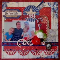 Absolutely dazzling (red, white & blue) layout!!
