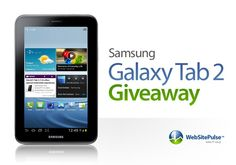 Enter the giveaway to win Samsung Galaxy Tab 2! Easy as clicking 'Like'