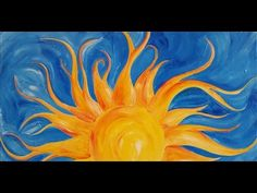 #LoveSpringArt Sunshine Step by Step Acrylic Painting on Canvas for Beginners - YouTube