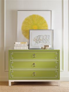 Vanguard Furniture: CC06B Prosser Drawer Chest - Available through Gabberts - Greenery - 2017 Pantone Color of the  Year