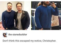 Chris and Sebastian go shopping together pass it on #chrisevans #sebastianstan #captainamerica