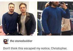 Chris and Sebastian go shopping together pass it on #chrisevans #sebastianstan #captainamerica