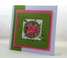 Card Making Ideas | Paper Crafts | Handmade Greeting Cards | Flower Cards. | Mother's Day Cards | Birthday Cards | Thinking of You Cards | Click on the picture if you would like to see how I made this card.