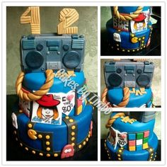 80's Birthday Cake! - by Timbo @ CakesDecor.com - cake decorating website