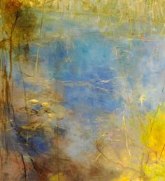 ☼ Painterly Landscape Escape ☼ landscape painting by Kathleen Earthrowl | Big Thicket IV