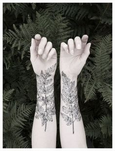 NATURE GIRL From the Forest Fern & Crystal Tattoo