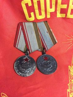 #Russian #WW2 #Commemorative #Military #Medals with #Ribbons #USSR #ebay #molch_ann #store