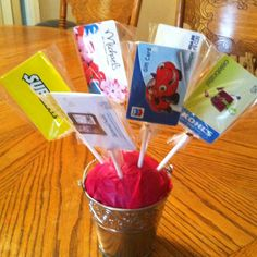 Mrs mcgraws end of the year gift card bouquet my therapy gift card bouquet negle Choice Image