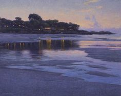 "Dennis Doheny, ""Receding Tide, Carmel Beach,"" Oil on linen 24"" x 30"" $18,500…"