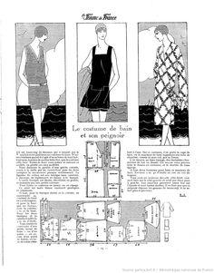 Ensemble de bain (La Femme de France 08/07/1928)