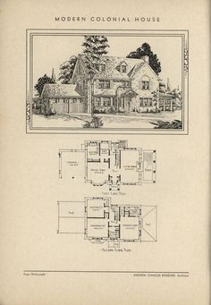 Colonial home by Architect Andrew Charles Borzner.    The book of beautiful homes. by Andrew C. Borzner Published 1932    BookReaderImages.php (1213×1755)