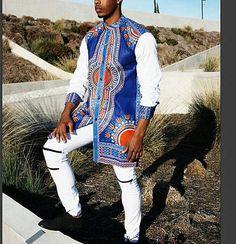 Long Dashiki Mens Dashiki, African dashiki shirt, dashiki, African Clothing
