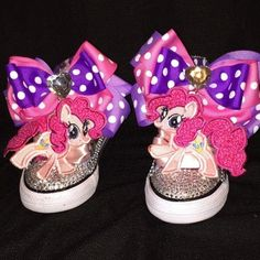 My Little Pony Pinkie Pie Shoe Embroidery Shoe Clip (CONVERSE)