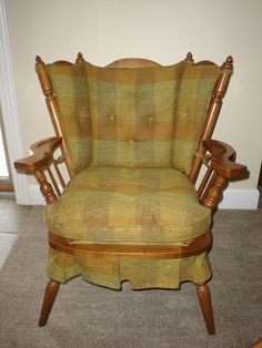 Vintage Tell City Andover Rock Maple Rocking Settee