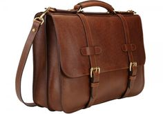 Mens English Leather Briefcase
