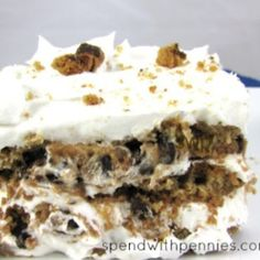 No Bake Chips Ahoy Icebox Cake @keyingredient #cake #nobake
