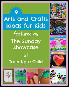 9 Ideas for Arts and Crafts for Kids including Valentine's, crepe paper art, recycled art, four seasons craft, window art, and more! (diy butterfly ipad)