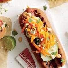 Banh Mi on a Bun Hot Dog Topper | MyRecipes