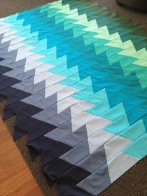 Tin Whistle: lightening bolt quilt Make with half hexie template.