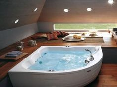 corner whirlpool bathtub