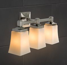 RH's Dillon Triple Sconce:Dillon is a modern classic, with clean lines and thoughtful detailing.