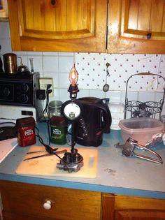 flicker lamp with working volt meter. Pressure washer valve base.