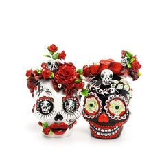 Gothic Wedding Mexican folk Art Sugar Skull Day of Dead and wedding theme Cake Topper Love Never Dies Collection